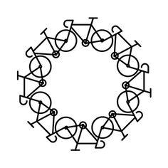 Dibujo circunferencia bicicletas