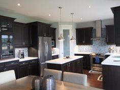 Grey Kitchen Walls Dark Cabinets custom kitchenabsolute cabinets | absolute kitchens