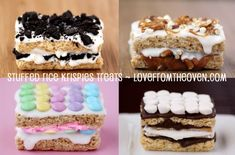 Stuffed Krispies Treats By Love From The Oven
