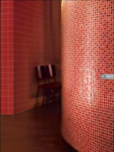Wall to wall red :: Crossville glass tile mosaics  # glasstile #mosaics