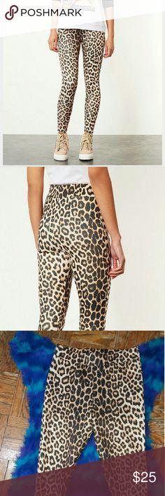 Selling this Topshop High Shine Leopard Print Leggings on Poshmark! My username is: urbansophicate. #shopmycloset #poshmark #fashion #shopping #style #forsale #Topshop #Pants