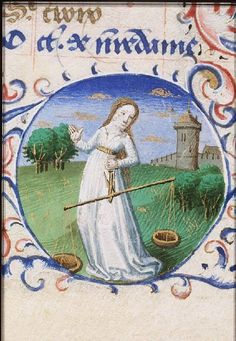 Book of Hours (`Hours of Simon de Varie'; use of Paris). Guillaume Alecis (Alexis), Prayer to Mary Place of origin, date:  Paris, Master of Jean Rolin, Master of the Dunois Hours (illuminators); 1455. Added miniatures (74 G 37a): Tours, Jean Fouquet (illuminator); c. 1455