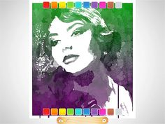 Popsicolor Photo App - turn your photos into watercolors with amazing blendy color effects.