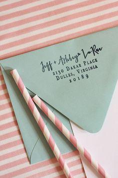 My girlfriend Ashley makes the most elegant paper goods. I am loving her Custom Address Stamp. $38.00, via Etsy.