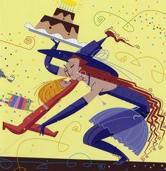 Ilustración de Paco Giménez Ortega  para la obra ¡¡¡Abuelaaa...!!!, de Carles Cano Peiró.