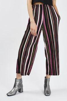 Multi Stripe Pleated Trousers