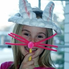 Easter Bunny Hats and Noses #Easter #Crafts