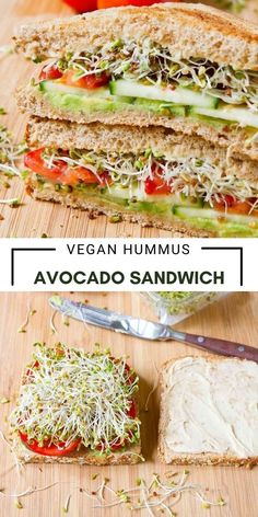 This is the veggie hummus avocado sandwich that I make day after day! Stacked with veggies, this vegan lunch is a tasty powerhouse of nutrients. 252 calories and 8 Weight Watchers SP | Recipes | Vegetarian | Plant Based | Meatless | Vegetable | Broccoli Sprouts | Gut Health | Toasted #plantbased #vegansandwich #weightwatchers #vegetariansandwich #smartpoints #guthealthy #broccolisprouts
