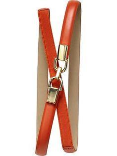 Stretch skinny belt | #BananaRepublic