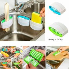 1 Kitchen Dish Brush Vegetable Wash Sponge Utensil Scrubber Sink Cutlery Cleaner for sale online Kitchen Tools And Gadgets, Cooking Gadgets, Must Have Kitchen Gadgets, Kitchen Supplies, Garden Supplies, Kitchen Ideas, Luxury Kitchen Design, Luxury Kitchens, Cool Kitchens