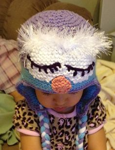 Adorable Sleepy owl ear flap hat for baby or by LailahsKnits, $24.95