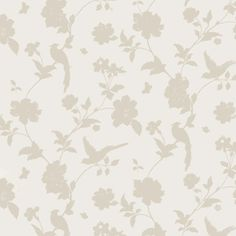 Laura Ashley Slightly Imperfect Ella Berry Floral Plum Green White Wallpaper
