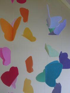 Nyári dekoráció sok pillangóval, Baba-mama-gyerek, Dekoráció, Otthon, lakberendezés, Gyerekszoba, Meska