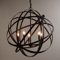 Entry chandelier option #1 | Large Metal Orb Chandelier | World Market
