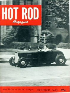 HOT ROD, October 1948. See all HOT ROD covers at…