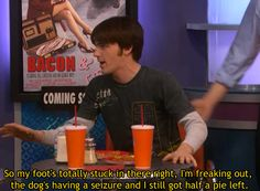 Best out of context quote from the show, i miss Drake and Josh, Hilarious! Funny Shit, The Funny, Funny Memes, Funny Stuff, Funny Things, Stupid Stuff, Funny Quotes, Funny Cartoons, Memes Humor