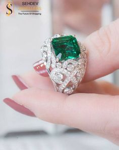 Make a sparkle entry with this fascinating emerald ring from http://sehdevjewellers.com/