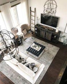 Best Farmhouse Living Room Makeover Decor Ideas 04