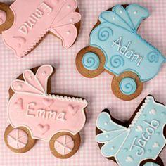 Personalised Baby's Pram Cookies