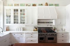love the row of spices above the stove