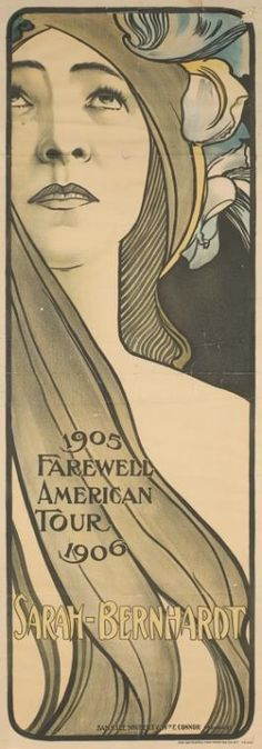Sarah Bernhardt 1905-1906 Farewell Amercian Tour. From New York Public Library Digital Collections.