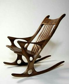 If you have basic carpentry skills and are looking for some affordable DIY ideas to get the creative juices flowing Unique Furniture, Contemporary Furniture, Wood Furniture, Furniture Design, Wooden Rocking Chairs, Deco Originale, Take A Seat, Cool Chairs, Fine Woodworking