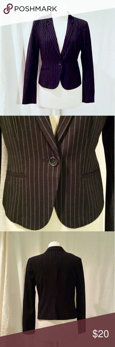 Worthington Black Pinstripe Blazer Length shoulder to hem is 20in Sleeve length is 25in Pit to pit laying flat is 18in  Waist laying flat is 16in Worthington Jackets & Coats Blazers