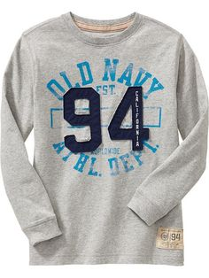 old navy athletic dept. graphic tee with 94 appliqué