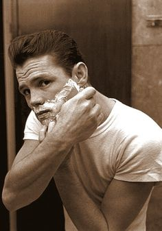 CHET BAKER shaving (follow minkshmink on pinterest)