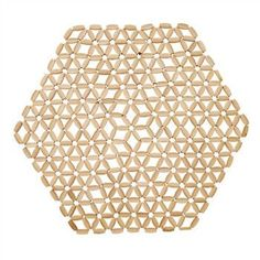 Hexagon Bamboo Placemat by Kim Seybert   Natural   Set of 4