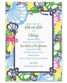 Chiquita Bonita Invitation for Wedding-Rehearsal Dinner by Lilly Pulitzer Southern Bridal Showers, Fine Stationery, Baby Shower Themes, Shower Ideas, Wedding Rehearsal, Youre Invited, Bat Mitzvah, Birthday Bash, Lilly Pulitzer
