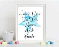 This would make a beautiful baby gift! I am able to change to color of the star if you prefer pink, or any other color! Nursery Design, Nursery Decor, Big Brother Gifts, Gifts For New Grandma, Boys First Birthday Party Ideas, Unique Baby Gifts, Grand Designs, Nursery Neutral, Printable Wall Art