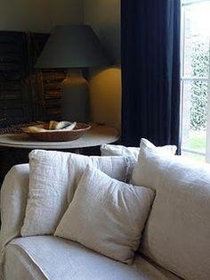 Rumpled linen sofa