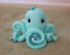 Polymer Clay Octopus - Miniature Octopus - Mini Clay Octopus - Fairy Garden Accessory - Terrarium Accessory – Garden Decoration