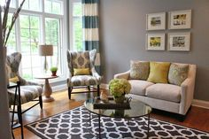 living room. Love the rug!