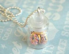 donuts in a jar necklace
