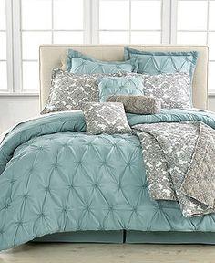 Jasmin Blue 10 Piece Comforter Sets - SALE & CLOSEOUTS - Bed & Bath - Macy's