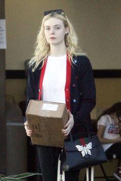 Elle Fanning - At UPS in LA 12/29/17