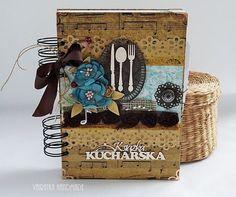 Przepiśnik z nutkami Picnic, Scrapbooking, Basket, Handmade, Hand Made, Picnics, Scrapbooks, Memory Books, Scrapbook