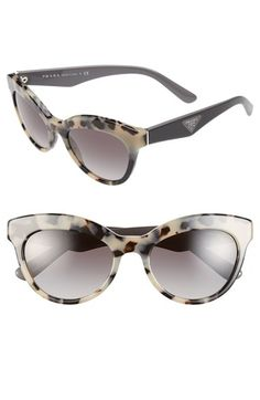 Prada 'Triangle Logo' 53mm Sunglasses available at #Nordstrom