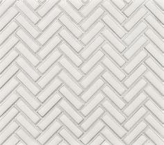 Pictured: Herringbone Mosaic from Ann Sacks Savoy Collection Stone Mosaic, Stone Tiles, Mosaic Tiles, Tiling, Cutting Edge Stencils, Boy Bath, Herringbone Backsplash, Herringbone Pattern, White Chalk