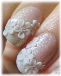 Lovely bridal nails