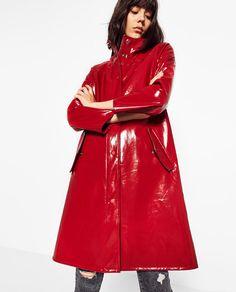 Image 2 of PATENT FINISH RAINCOAT PARKA from Zara