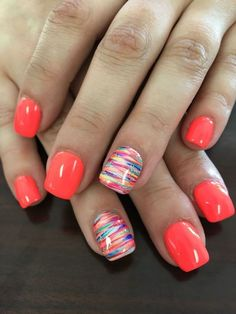 Nails ideas 66 gel nails designs that are all your fingertips need to steal the show 61 – . All you need to play the 66 gel nail design at your fingertips 61 - JANDAJOSS. Spring Nail Art, Spring Nails, Nail Summer, Summer Shellac Nails, Bright Summer Gel Nails, Nails Summer Colors, Pedicure Summer, Color Nails, Shellac Pedicure