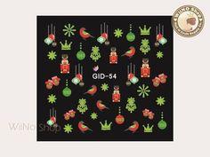 GID-054 Christmas Glow In The Dark Water Slide Nail Art Decals - 1pc