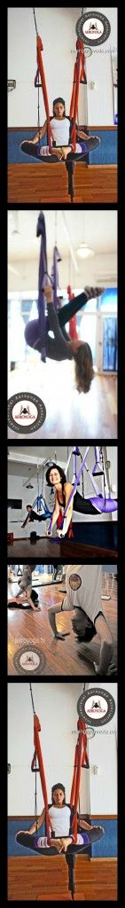 Aerial Yoga Coaching.  The AeroYoga ® system hundreds of original positions (aerial yoga postures) allow  feelings of strength and freedom. www.aerialyoga.tv
