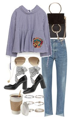 """""""Untitled #10173"""" by nikka-phillips ❤ liked on Polyvore featuring Chloé, Ray-Ban, Miu Miu and Boohoo"""