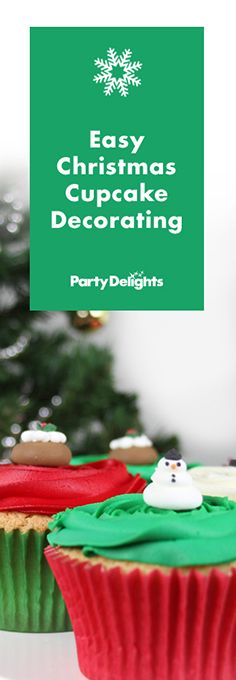 Make cute Christmas cupcakes for the festive season with our easy Christmas cupcake decorating ideas. Simply follow our easy cupcake recipe and we'll show you how to decorate your cakes with coloured buttercream frosting and festive sugar decorations.