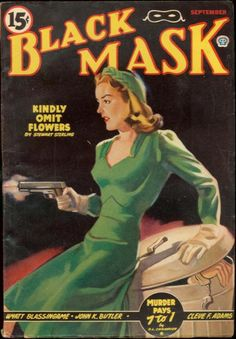 "A collection of covers from ""Black Mask,"" the vintage pulp fiction magazine."