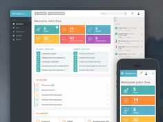 Responsive Web Application Admin by Bota Iusti